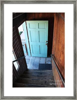 Blue Door Framed Print