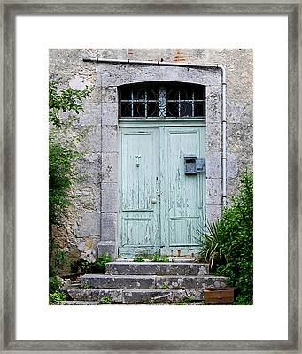 Blue Door In Vianne France Framed Print by Marion McCristall