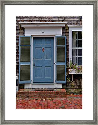 Nantucket Blue Door Framed Print by JAMART Photography