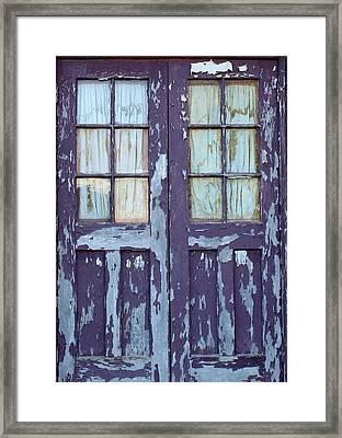 Blue Door Framed Print by John Adams