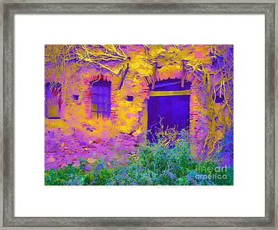 Blue Door Framed Print by Loko Suederdiek