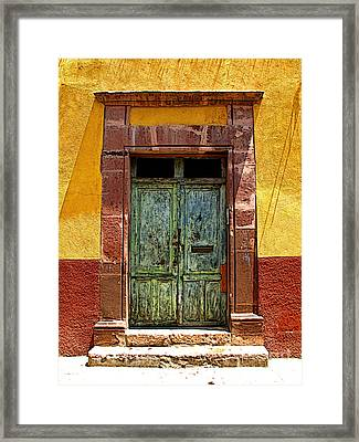 Blue Door Framed Print by Mexicolors Art Photography