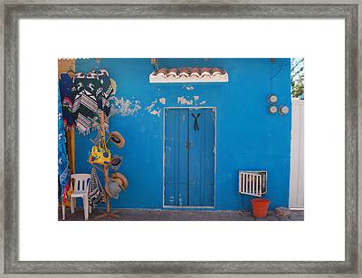 Blue Doors In Mexico Framed Print by Mary Pearson