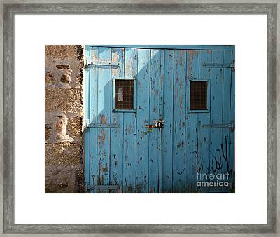 Blue Doors Framed Print