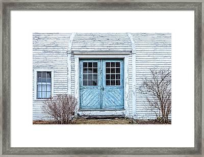 Blue Doors Framed Print by Susan Cole Kelly