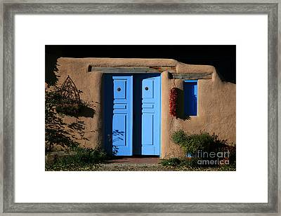 Blue Doors Framed Print by Timothy Johnson
