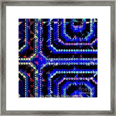 Blue Dot Framed Print