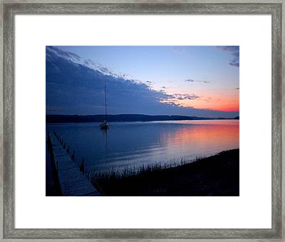 Blue Downtime Framed Print by Michael Thomas
