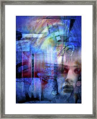 Blue Drama Vision Framed Print