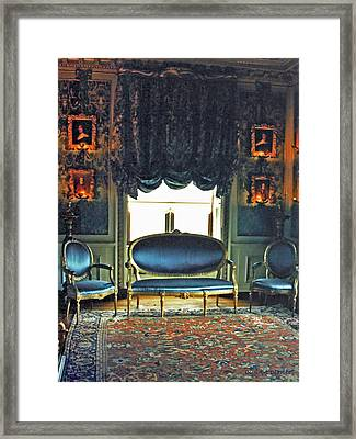 Blue Drawing Room Framed Print by DigiArt Diaries by Vicky B Fuller