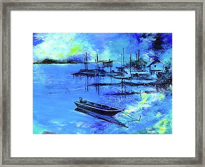 Blue Dream 2 Framed Print by Anil Nene