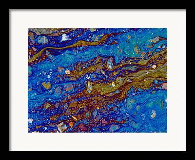 Asphalt Nebula Framed Prints