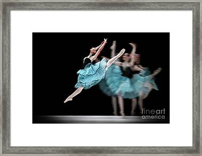 Framed Print featuring the photograph Blue Dress Dance by Dimitar Hristov