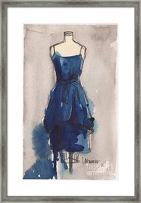 Blue Dress II Framed Print