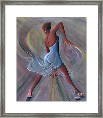 Blue Dress Framed Print by Ikahl Beckford