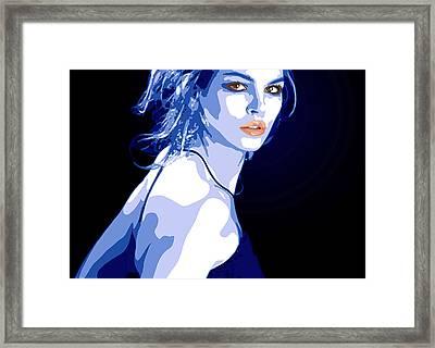 Blue Dress Framed Print by Tanya Byrd