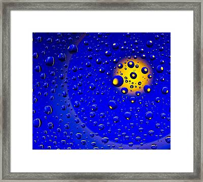 Framed Print featuring the photograph Blue Drops by Vladimir Kholostykh
