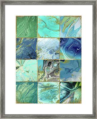 Blue Earth Framed Print by Mindy Sommers