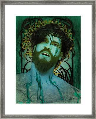 Blue Ecce Homo Framed Print