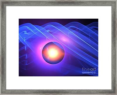 Blue Eclipse Framed Print by Kim Sy Ok