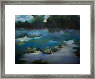 Blue Eden Framed Print