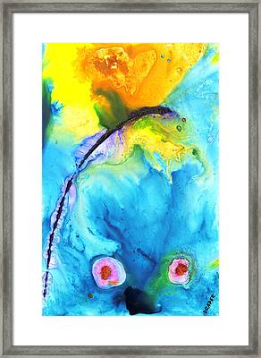 Blue Edge Rising Framed Print by James Draper