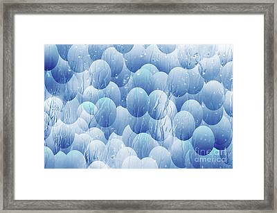 Blue Eggs - Abstract Background Framed Print