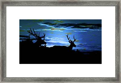 Blue Elk Dreamscape Framed Print by Mike Breau