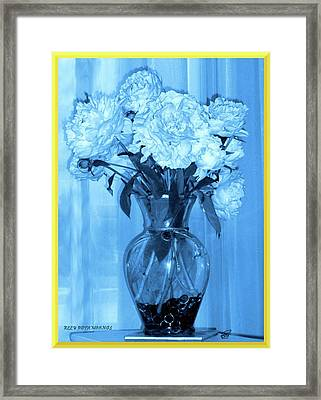 Framed Print featuring the photograph Blue by Elly Potamianos