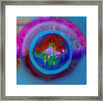 Framed Print featuring the painting Blue Embrace by Charles Stuart