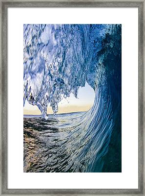 Blue Envelope - Vertical Framed Print by Sean Davey