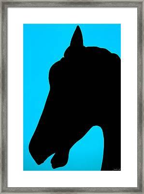Blue Equus Framed Print by JoAnn Lense
