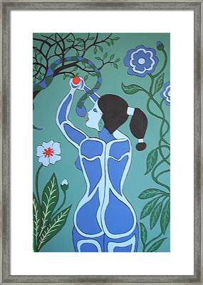 Framed Print featuring the painting Blue Eve No. 1 by Stephanie Moore
