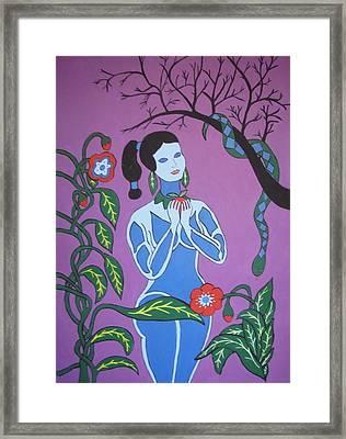 Blue Eve  No. 2 Framed Print by Stephanie Moore