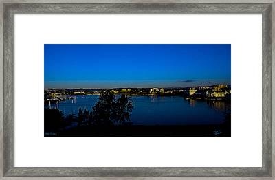 Blue Evening Framed Print by Diane C Nicholson