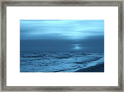 Blue Evening Framed Print by Sandy Keeton
