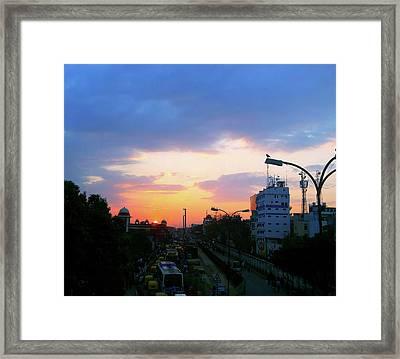 Blue Evening Sky Framed Print