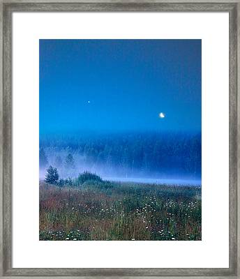 Framed Print featuring the photograph Blue Evening by Vladimir Kholostykh