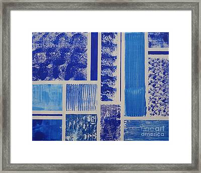 Blue Expo Framed Print