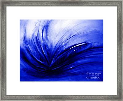 Blue Expression Framed Print