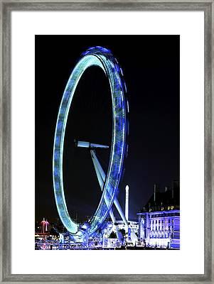 Blue Eye In London Framed Print