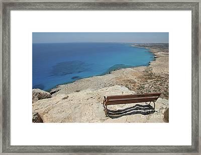 Blue Eye Of Cyprus  Framed Print by Clay Cofer