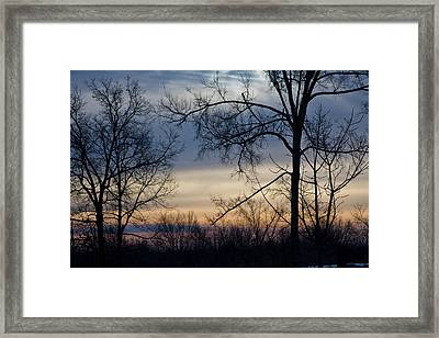 Blue Eye Sunrise Framed Print