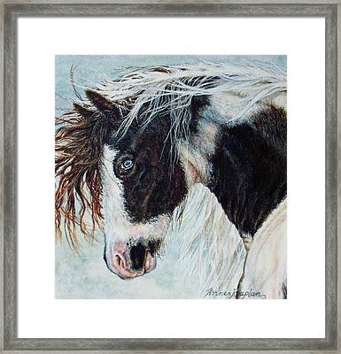 Blue Eyed Storm Framed Print