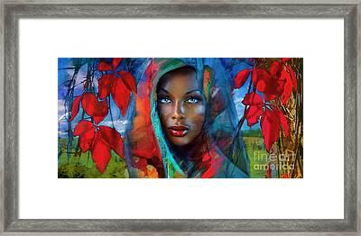 Blue Eyes Dark Fall Framed Print by Angie Braun