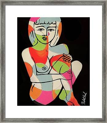 Blue Eyes Nude Female Pose Painting By Robert Erod Print Framed Print