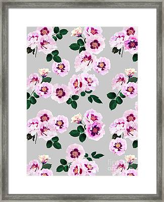 Blue Eyes Roses Framed Print