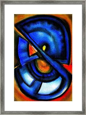 Blue Fans - Pastels Framed Print by J Kamaru