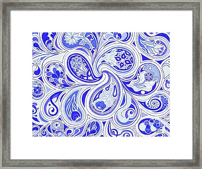 Blue Fantastic Framed Print
