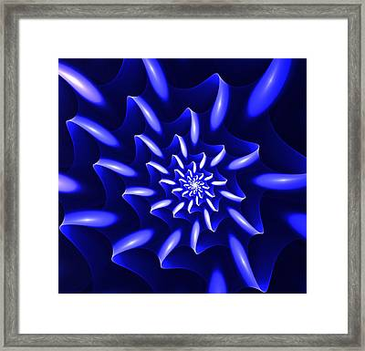 Blue Fantasy Floral Framed Print